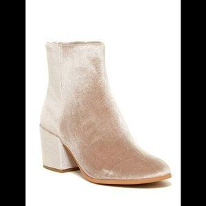 Dolce Vita Gray Velvet Mirra Ankle Boot